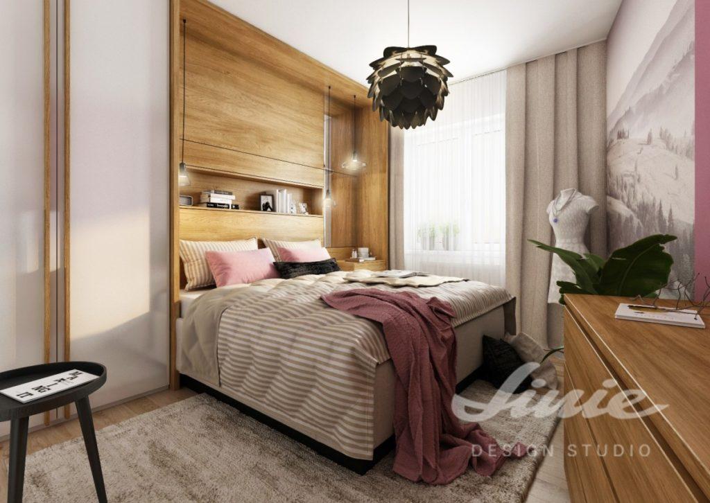 Inspirace pro ložnice v moderním stylu s tmavě růžovými prvky