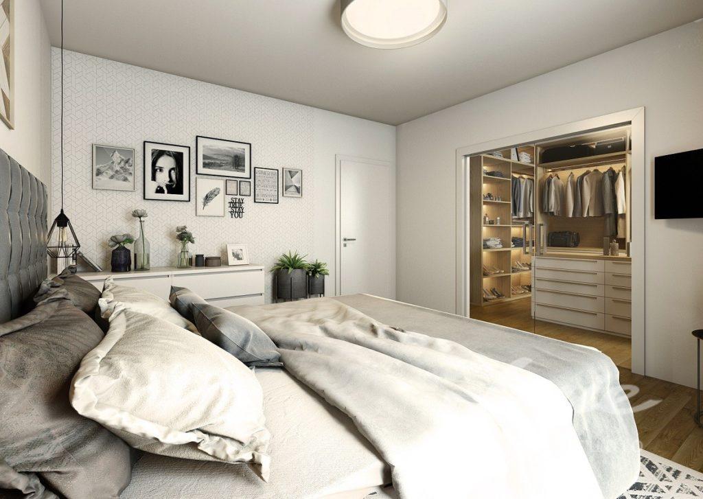 Inspirace pro ložnice zařízené v odstínech šedé