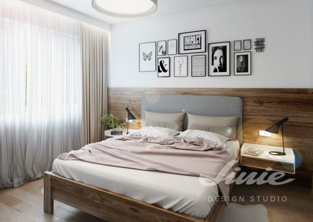 Inspirace pro ložnice v moderním stylu s pudrovými odstíny