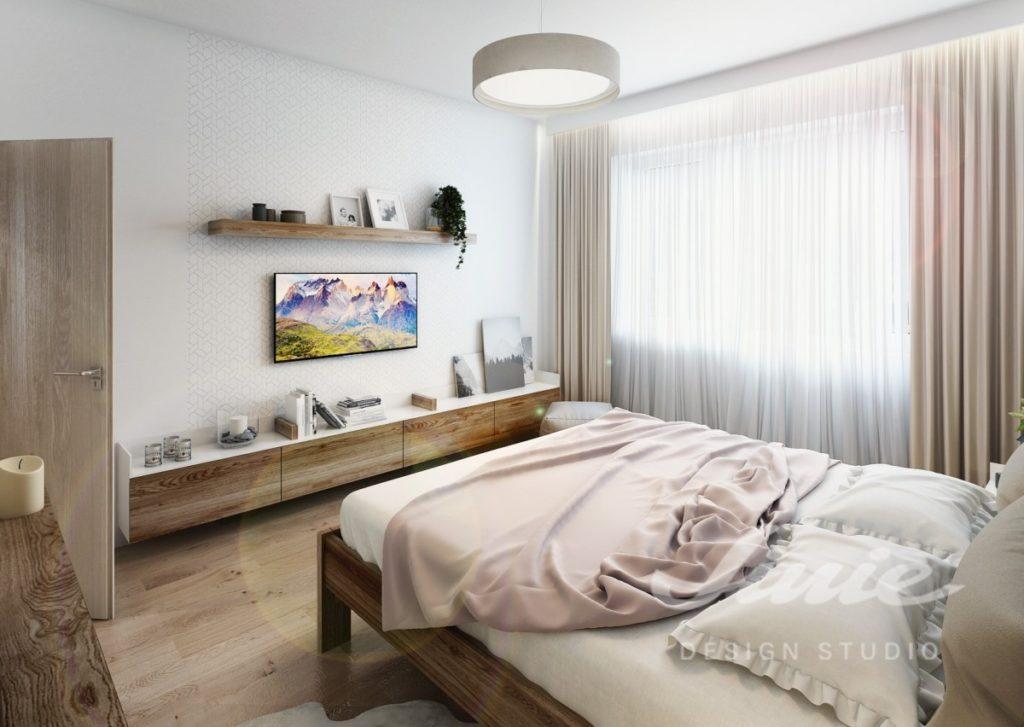 Inspirace pro ložnice v moderním stylu s pudrovými prvky