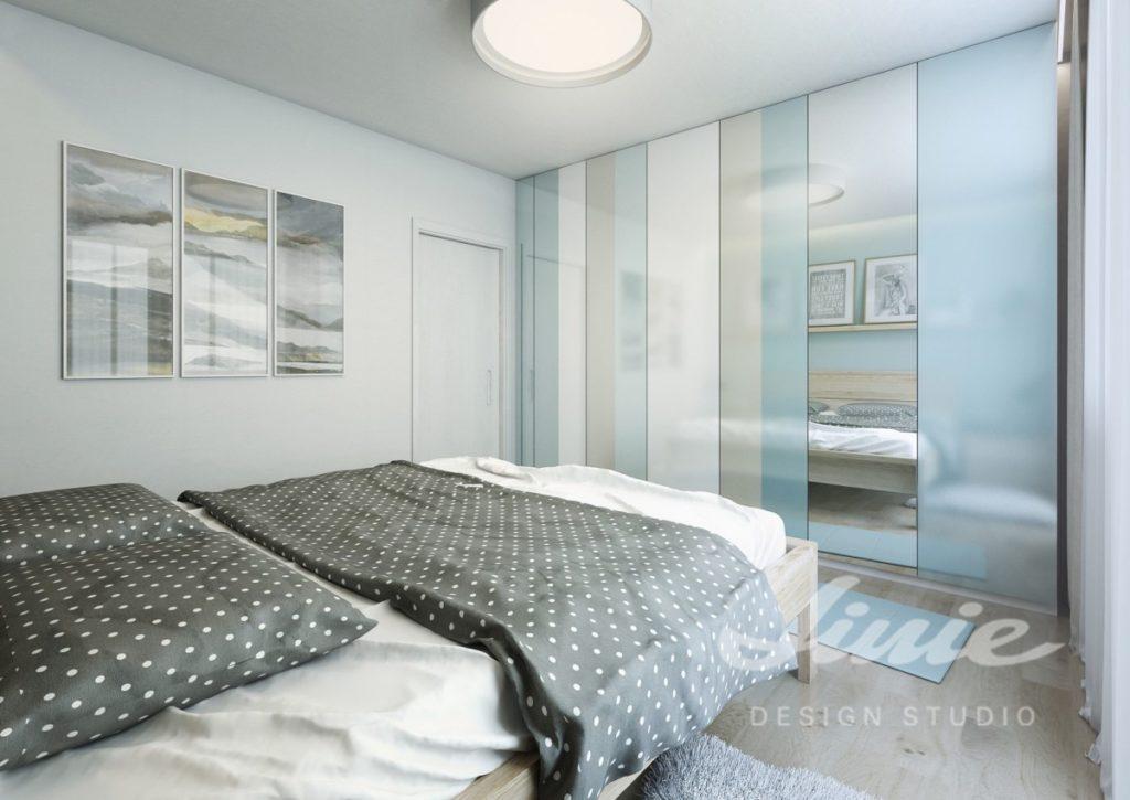 Inspirace pro ložnice v moderním stylu s jemně modrými prvky