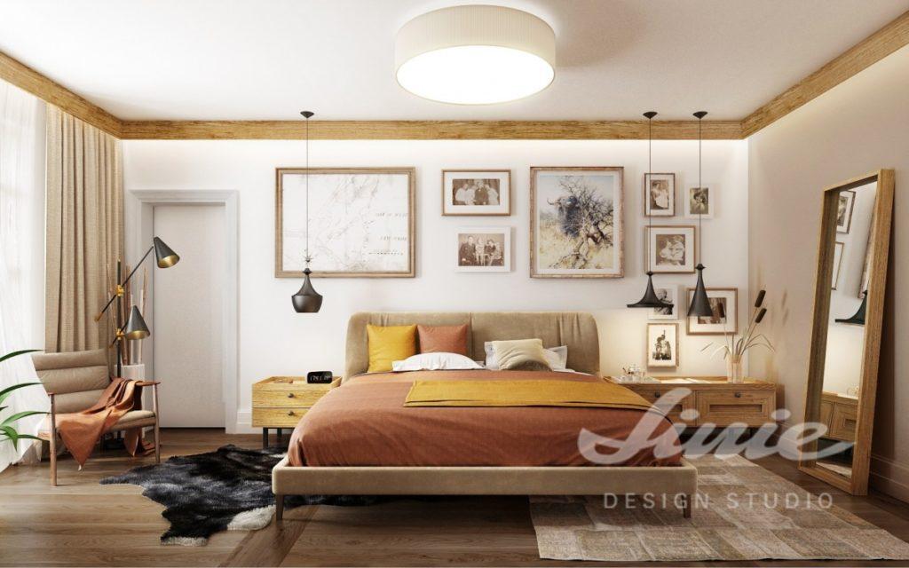 Inspirace pro ložnice s textilem v teplých barvách