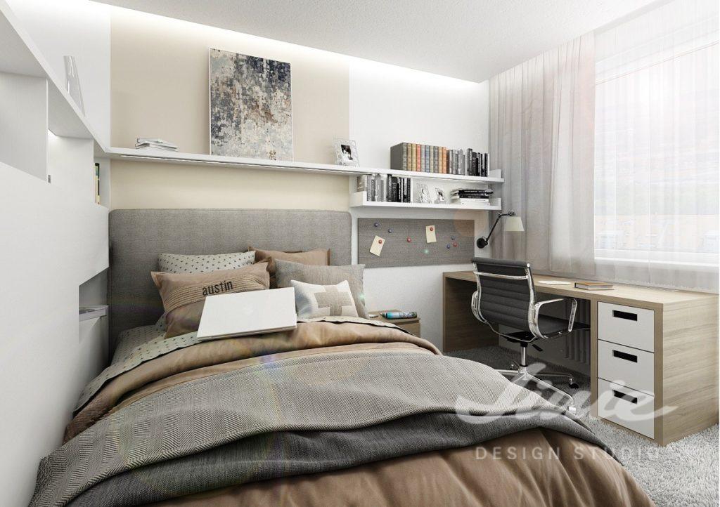 Inspirace pro ložnice s textilem ve světle hnědých odstínech
