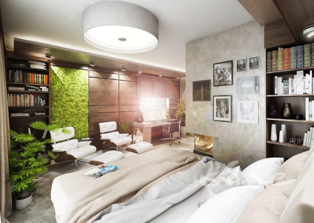 Inspirace pro ložnice s přírodním motivem