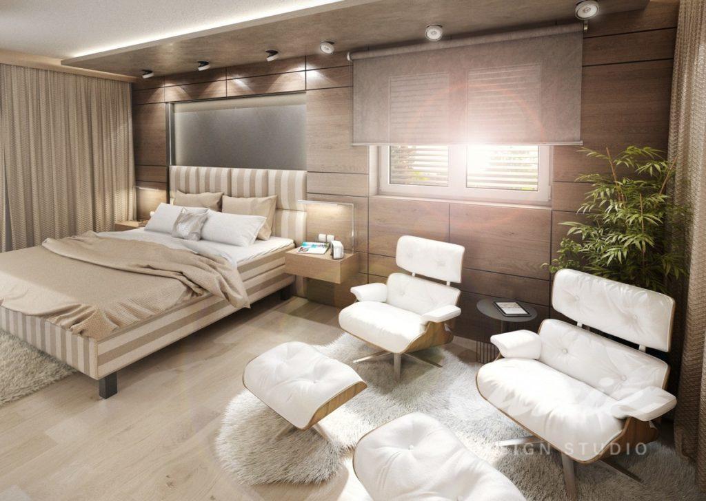 Inspirace pro ložnice v moderním provedení se světle béžovými odstíny
