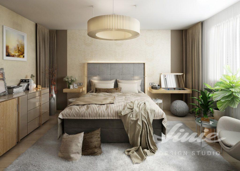 Inspirace pro ložnice v moderním provedení s přírodními odstíny