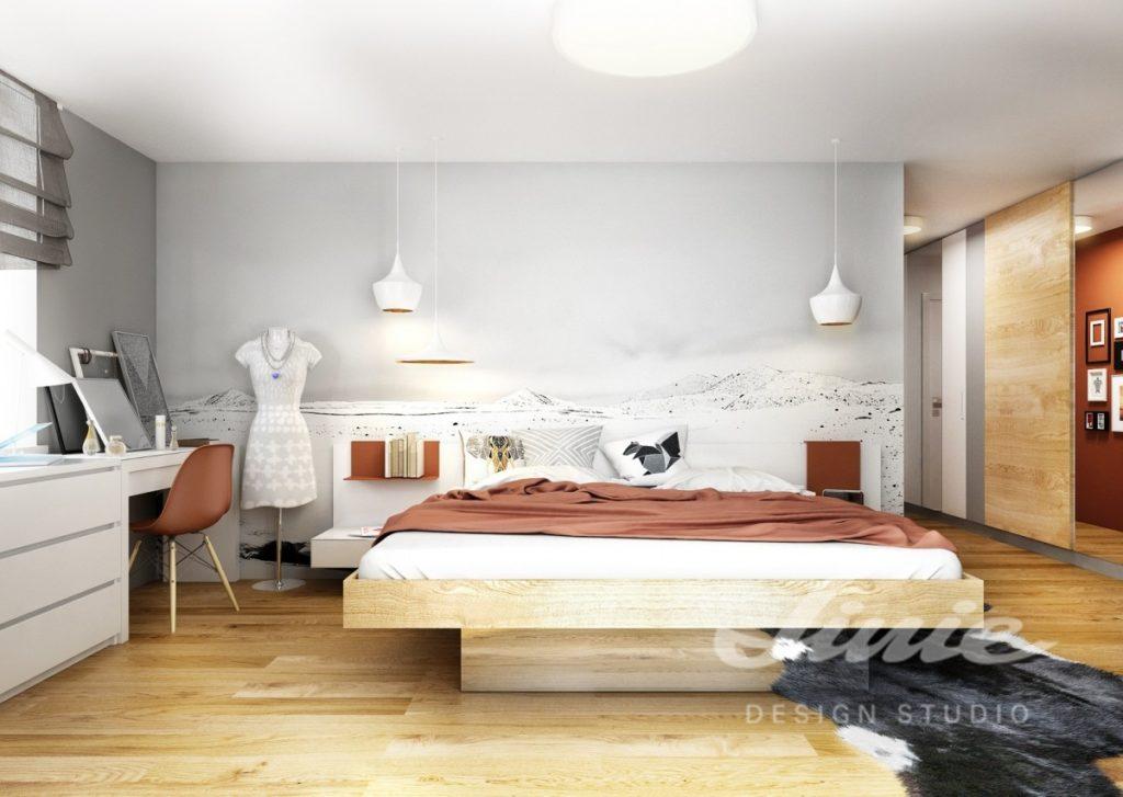 Inspirace pro ložnice v moderním provedení s cihlovými odstíny