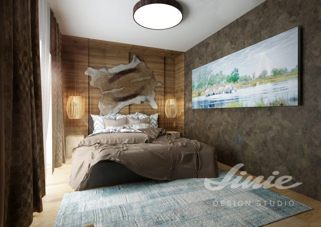 Inspirace pro ložnice v moderním provedení s hnědými odstíny