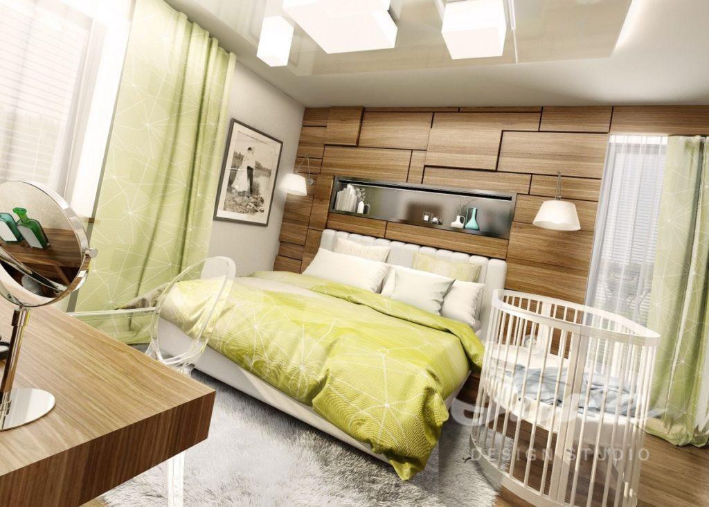 Inspirace pro ložnice ve veselých barvách s dřevěnými detaily