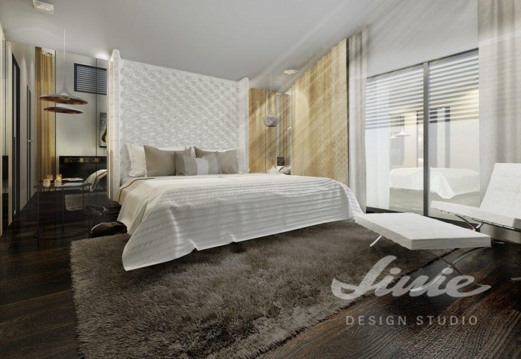 Inspirace pro ložnice v neutrálních barvách se žlutými detaily