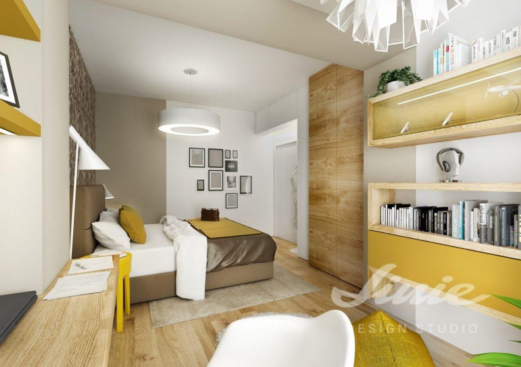 Inspirace pro ložnice se žlutými prvky