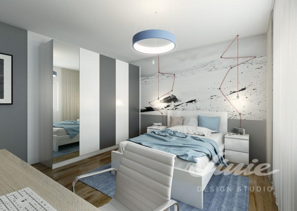 Inspirace pro ložnice zařízené v modrých odstínech