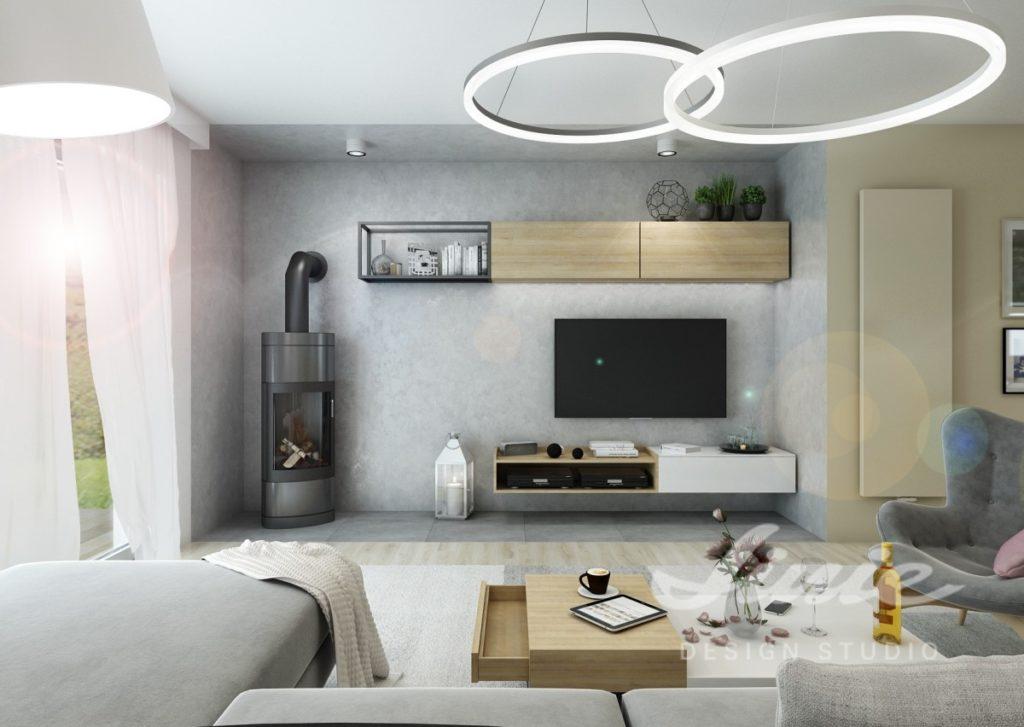 Inspirace pro obývací pokoj s prvky v šedých odstínech