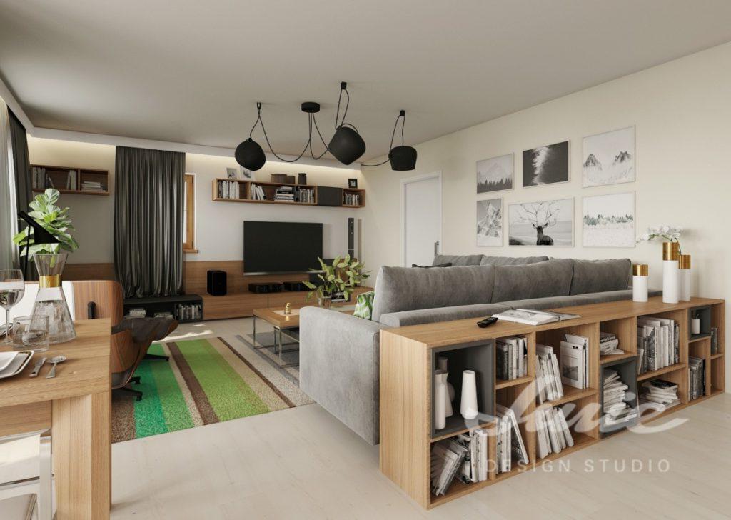 Inspirace pro obývací pokoj s obrazy s přírodními motivy