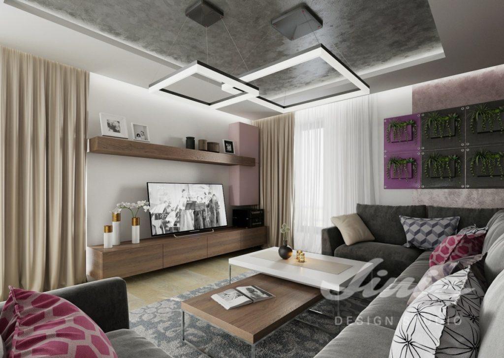 Inspirace pro obývací pokoj s barevnými textilními doplňky
