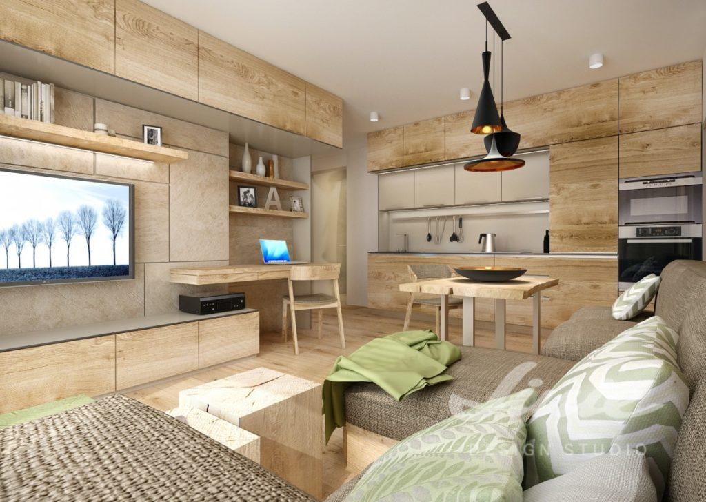 Inspirace pro obývací pokoj v přírodních odstínech