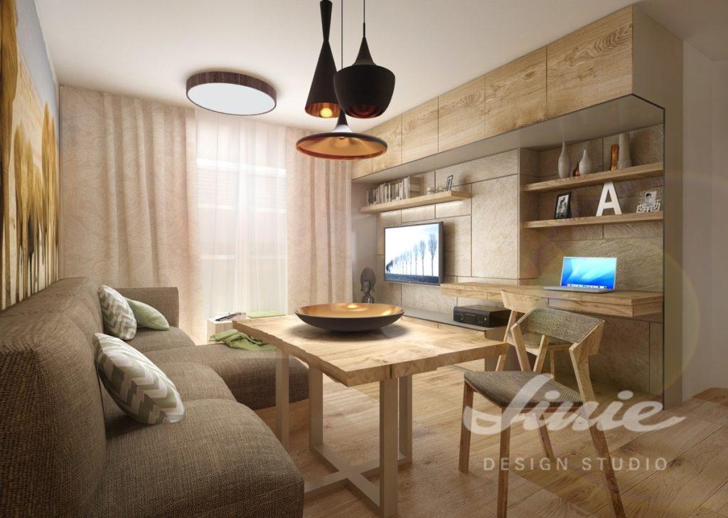 Inspirace pro obývací pokoj v teplých odstínech