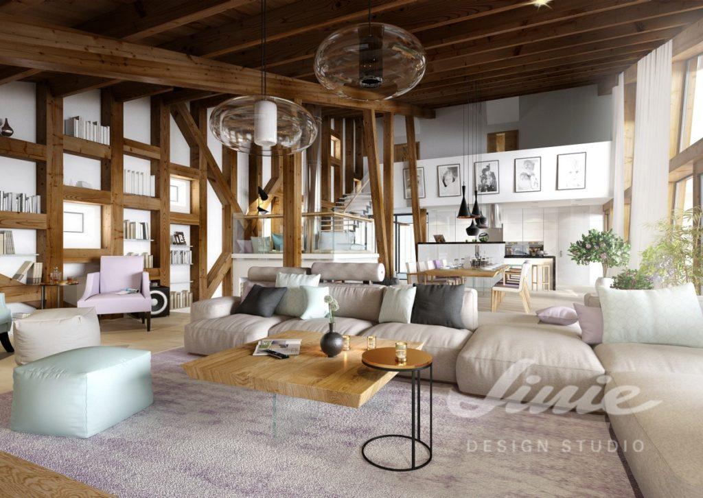 Inspirace pro obývací pokoj se světlou sedací soupravou