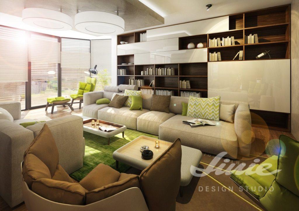 Inspirace pro obývací pokoj s nábytkem v přírodních barvách