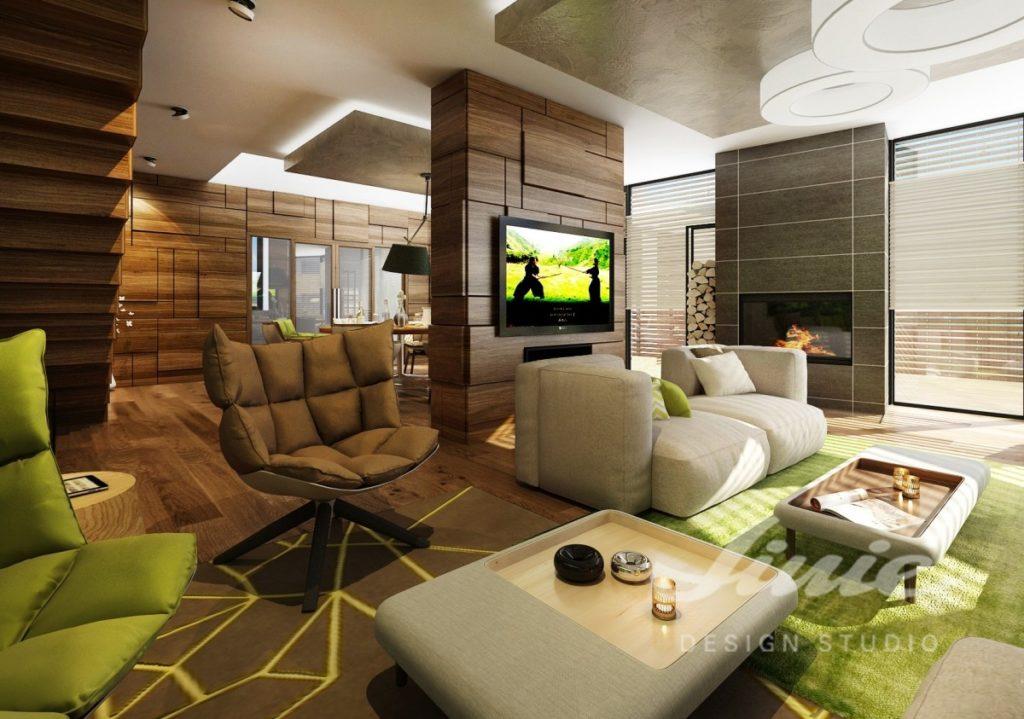 Inspirace pro obývací pokoj s nábytkem a doplňky v přírodních barvách