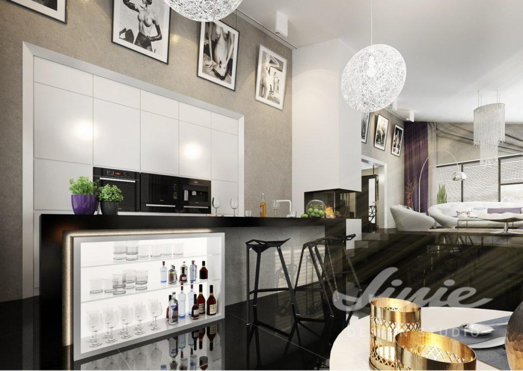 Inspirace pro obývací pokoj s nápojovým barem