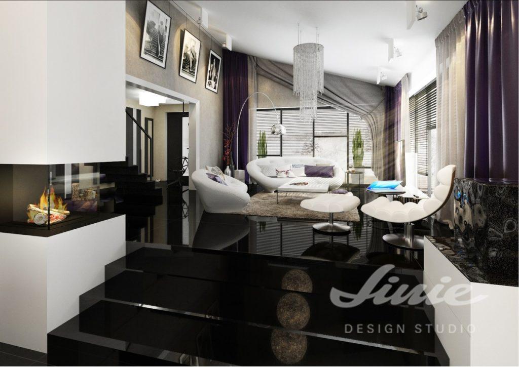 Inspirace pro obývací pokoj s tmavými interiérovými doplňky