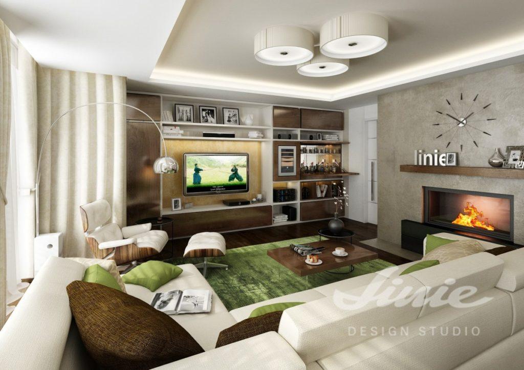 Inspirace pro obývací pokoj v přírodních barvách