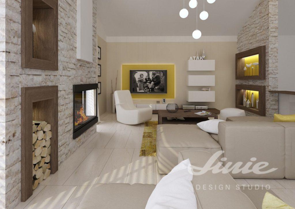 Inspirace pro obývací pokoj s žlutými prvky