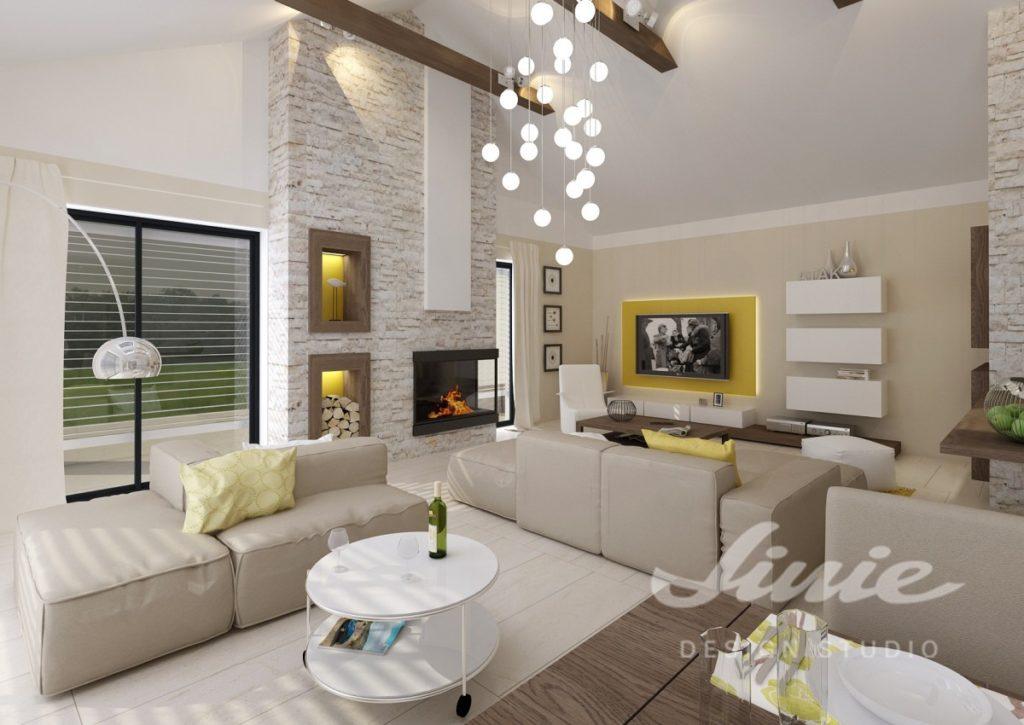 Inspirace pro obývací pokoj s žlutými detaily