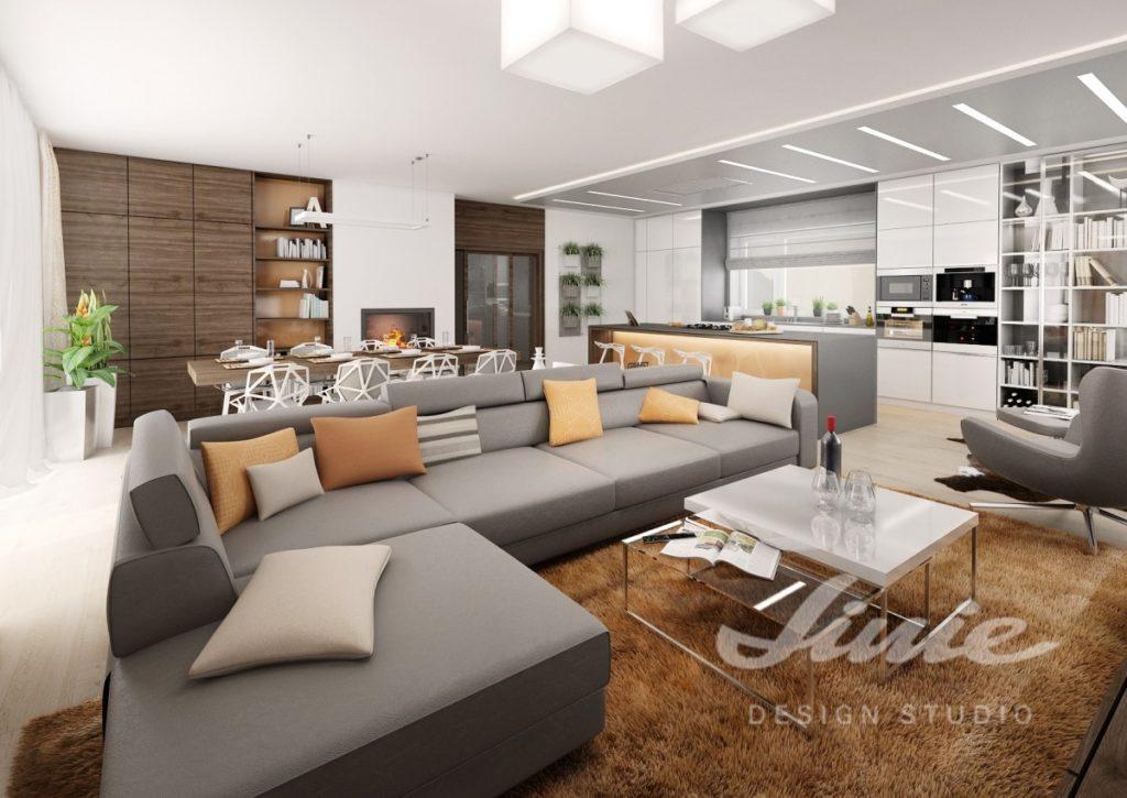 Inspirace pro obývací pokoj s šedými odstíny