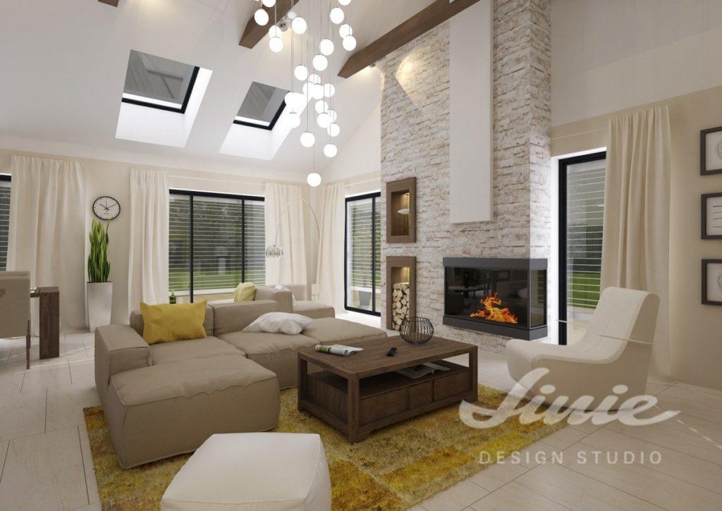 Inspirace pro obývací pokoj s krémovými doplňky