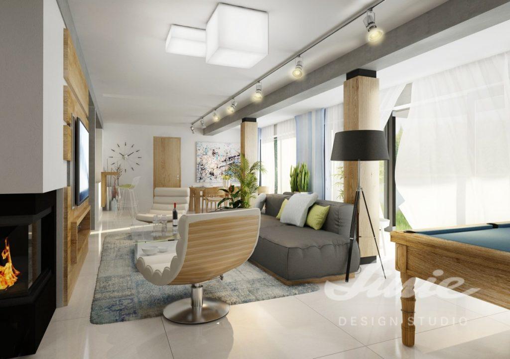Inspirace pro obývací pokoj ve světlém dřevě