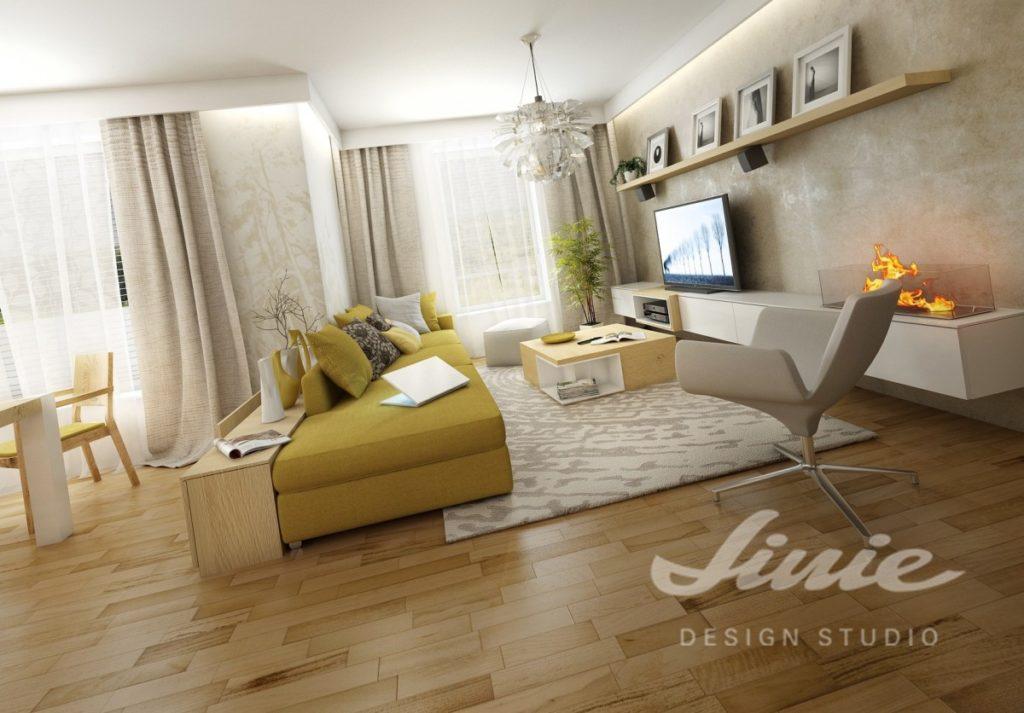 Inspirace pro obývací pokoj se světlou podlahou