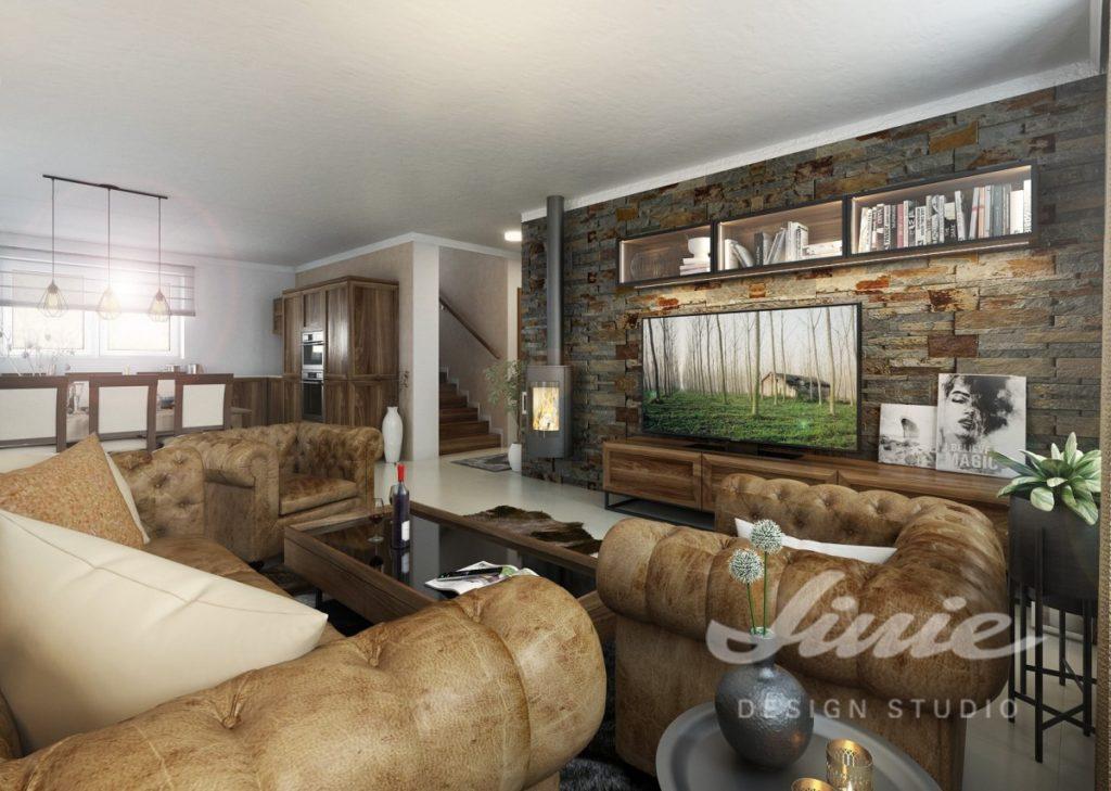 Inspirace pro obývací pokoj s koženým sedacím nábytkem