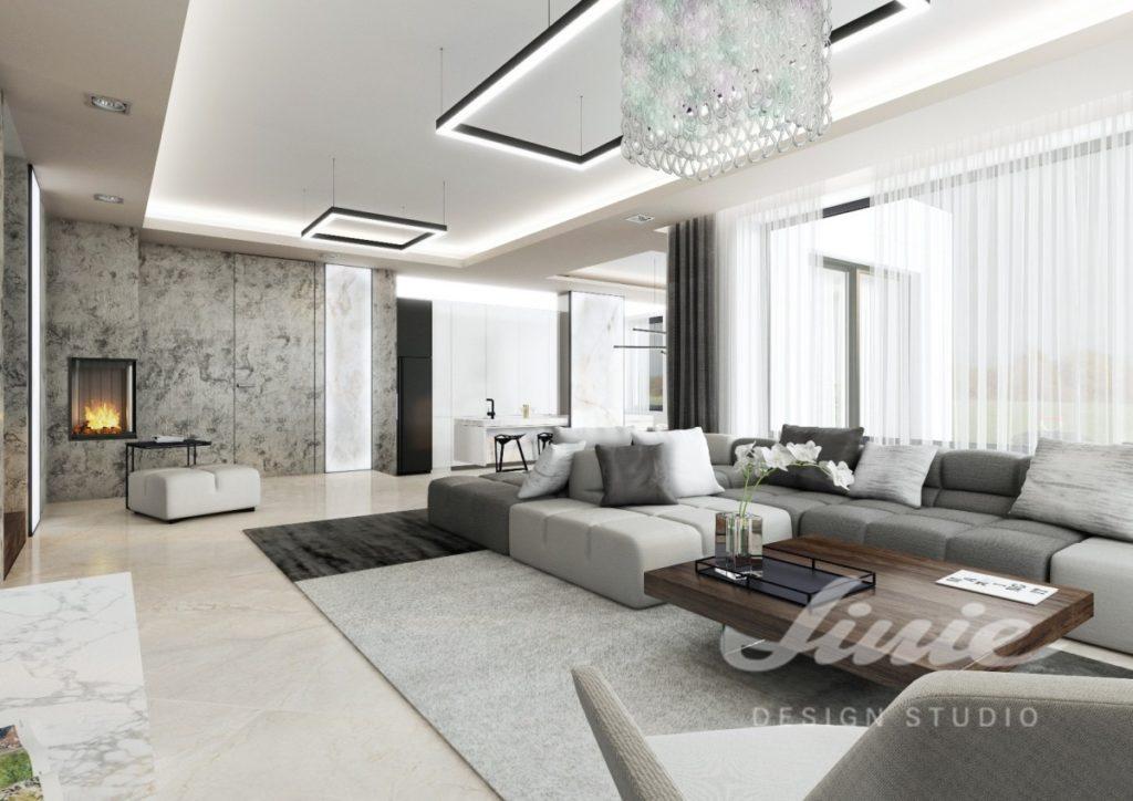 Inspirace pro obývací pokoj v šedých a bílých tónech