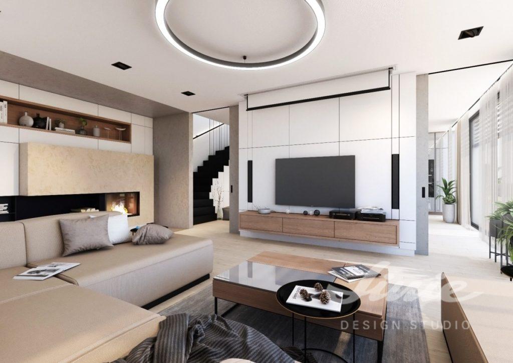 Inspirace pro obývací pokoj ve světlé barvě s béžovou sedací soupravou