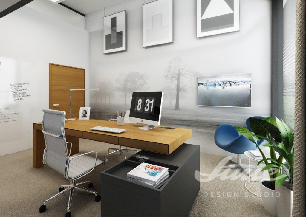 Inspirace pro obývací pokoj se stěnou s černobílým přírodním motivem