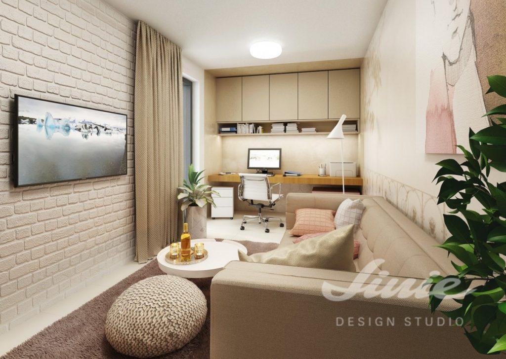 Inspirace pro obývací pokoj v teple béžových odstínech