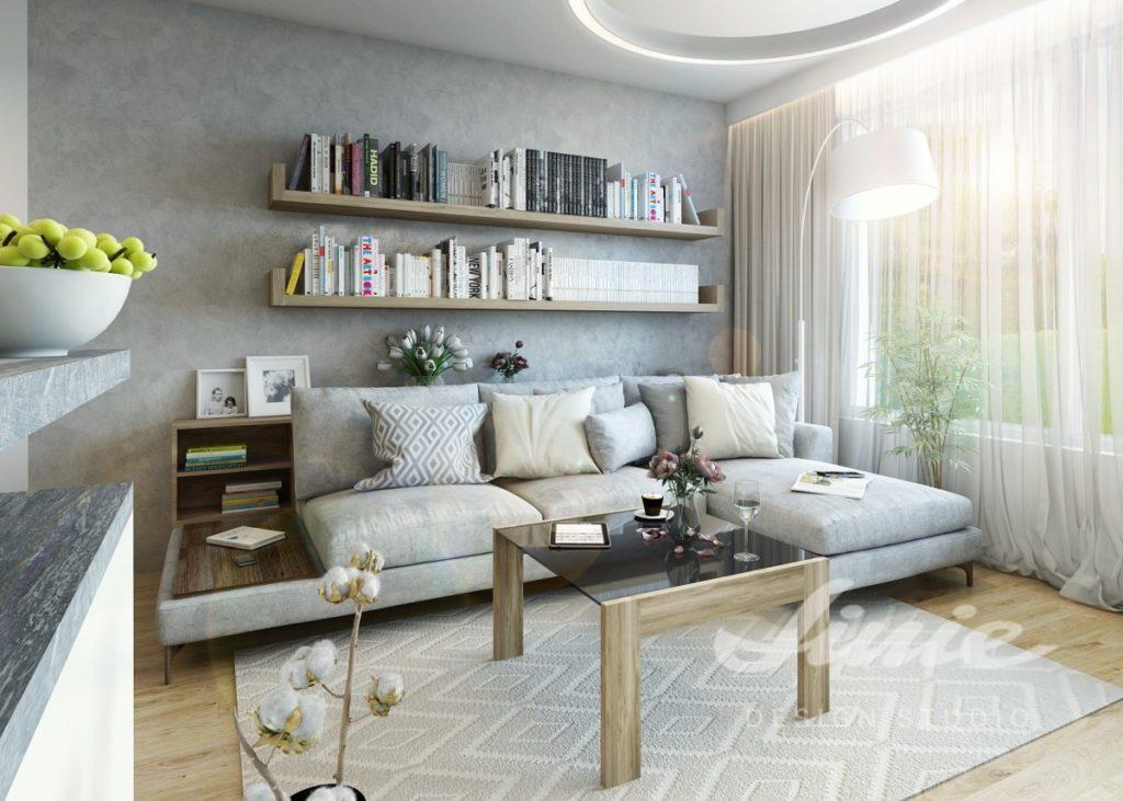 Inspirace pro obývací pokoj v šedých a světlých tónech