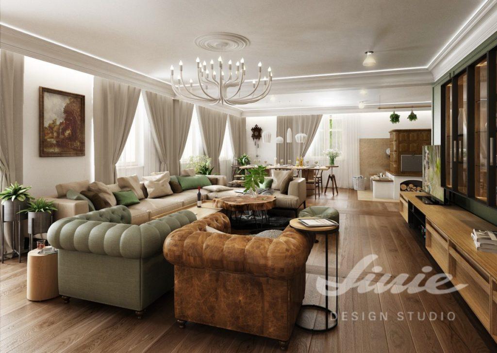 Inspirace pro obývací pokoj s textilními doplňky v přírodních barvách