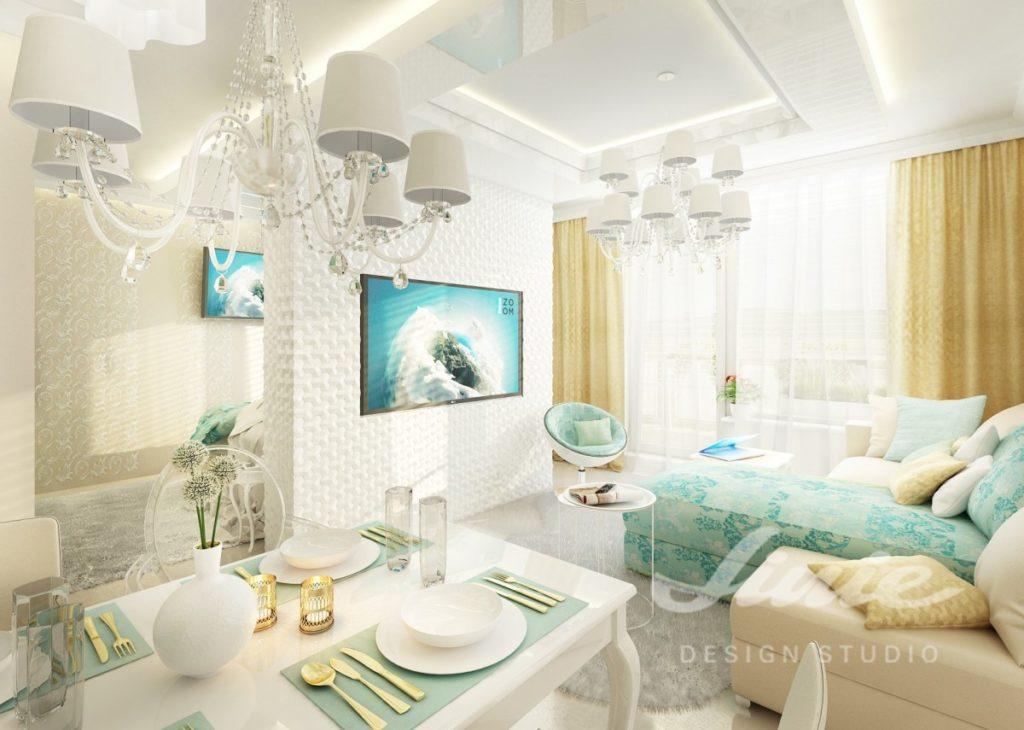 Inspirace pro obývací pokoj se zlatými doplňky