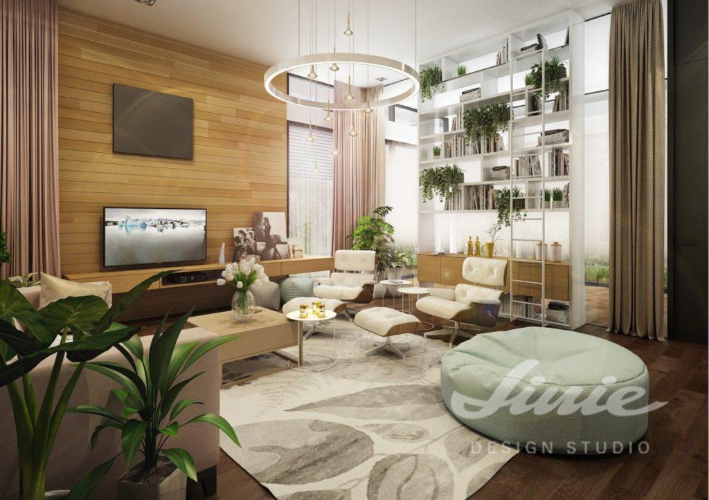 Inspirace pro obývací pokoj v přírodních béžových odstínech