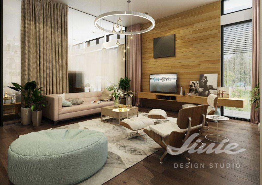 Inspirace pro obývací pokoj se světle tyrkysovým sedacím polštářem