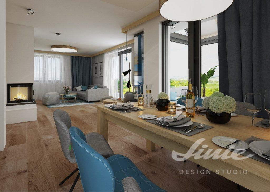 Inspirace pro obývací pokoj s podlahou a nábytkem ze světlého dřeva
