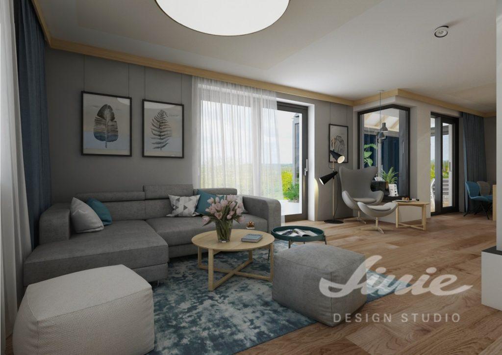 Inspirace pro obývací pokoj v šedých neutrálních tónech