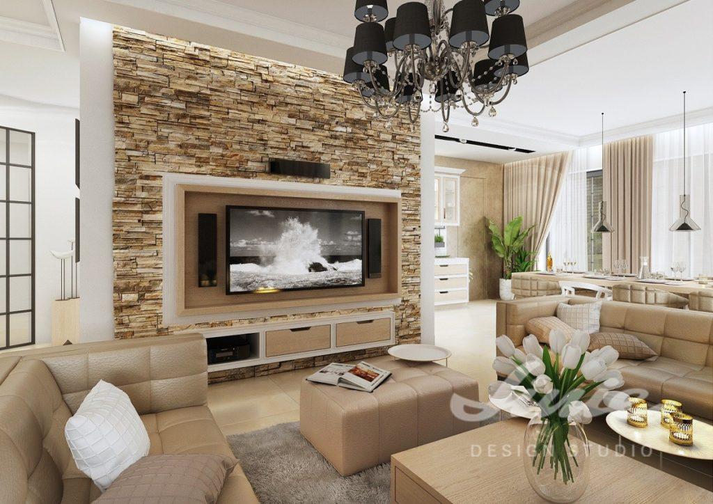 Inspirace pro obývací pokoj s béžovými sedacími soupravami