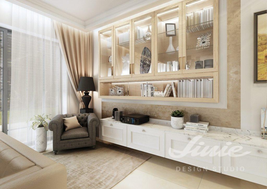 Inspirace pro obývací pokoj se světlým nábytkem a krémovými doplňky