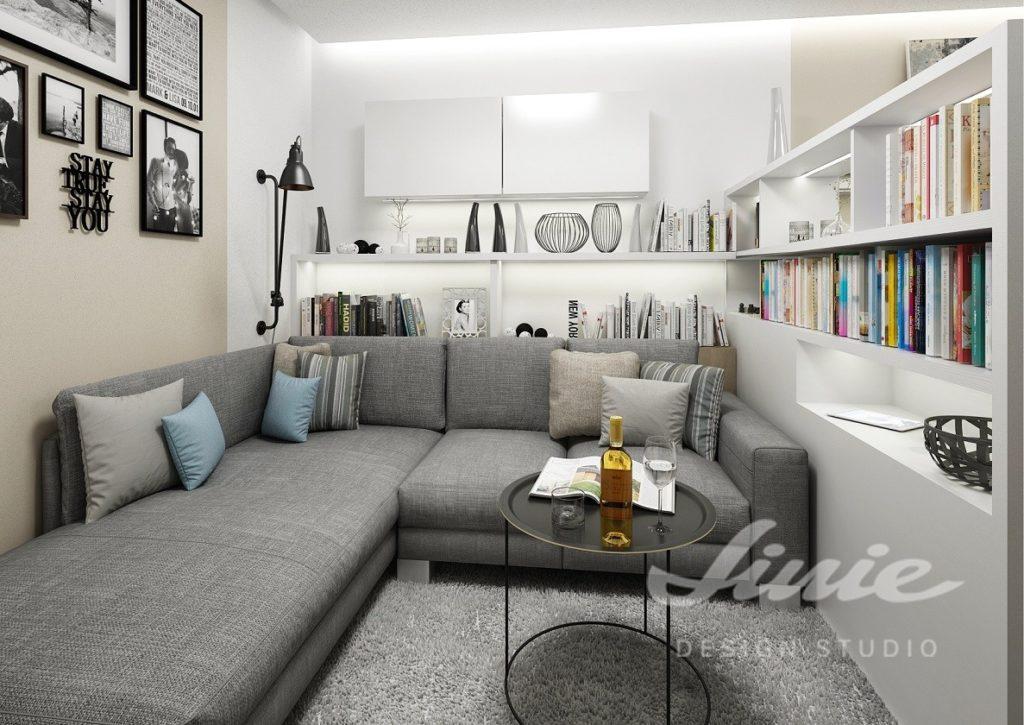 Inspirace pro obývací pokoj s nábytkem v bílé barvě