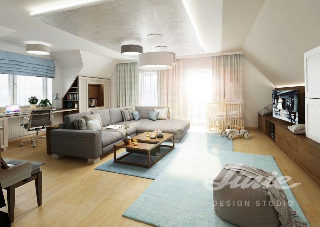 Inspirace pro obývací pokoj laděný do pastelových barev