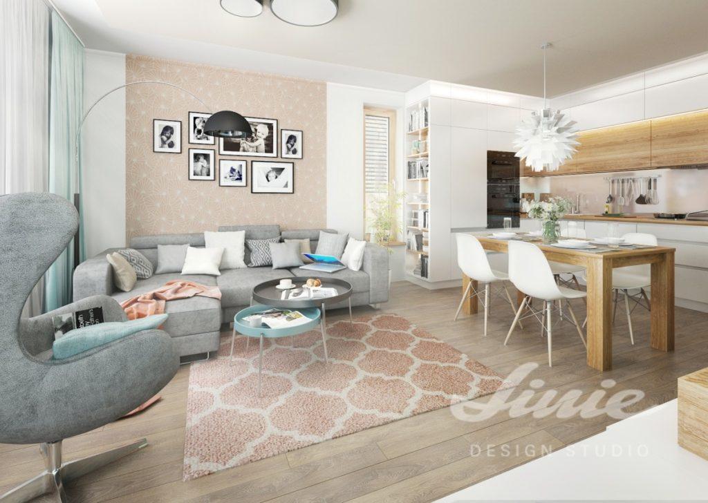 Inspirace pro obývací pokoj s šedým sedacím nábytkem